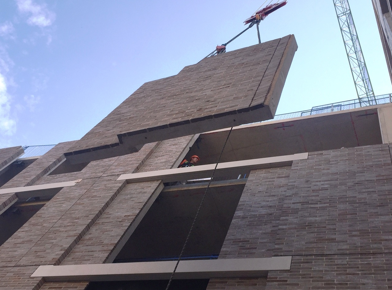 Precast Brick Cladding Kings Court Covent Garden Lodon