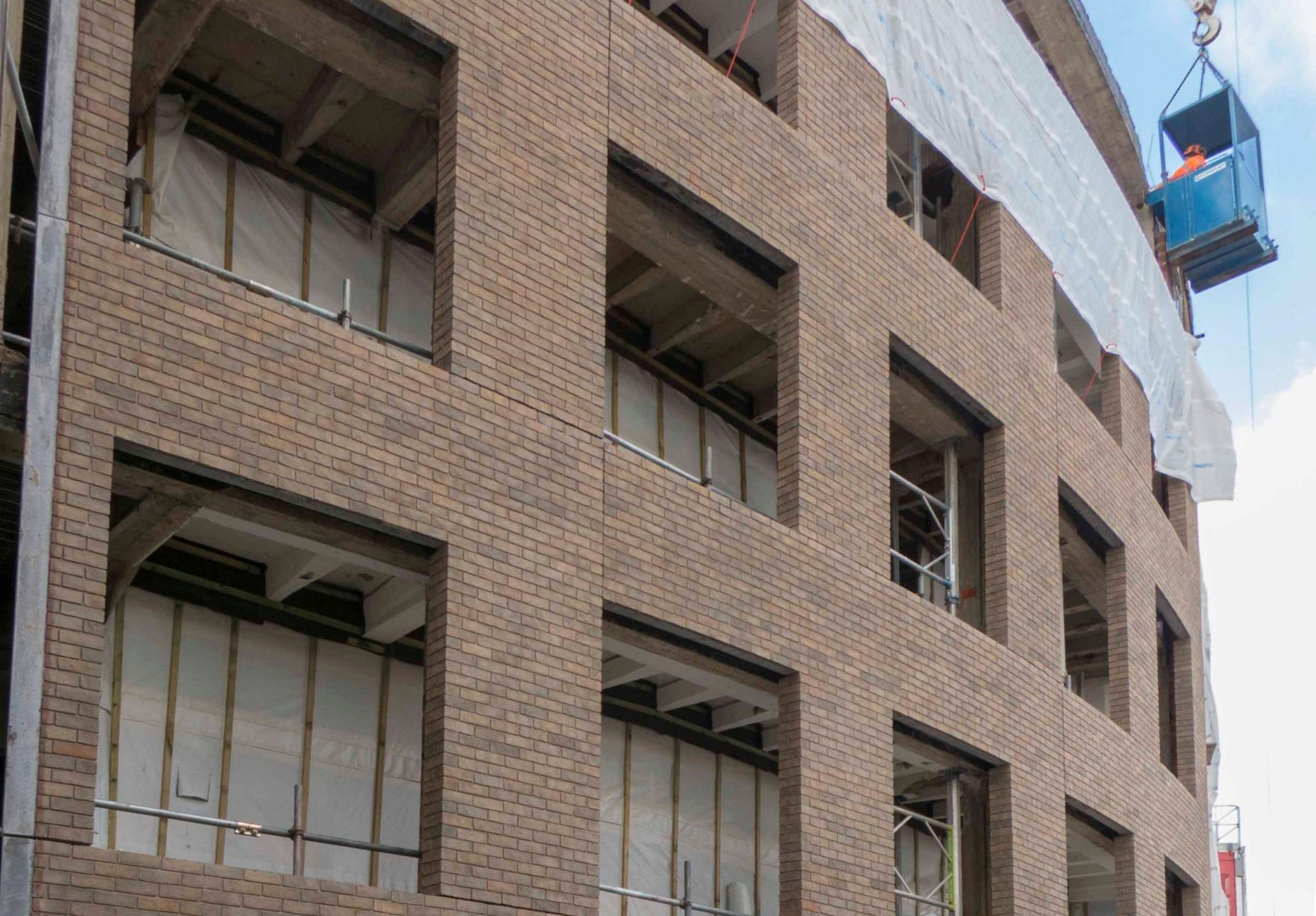 Television Centre, first Brick Faced Precast panels installed